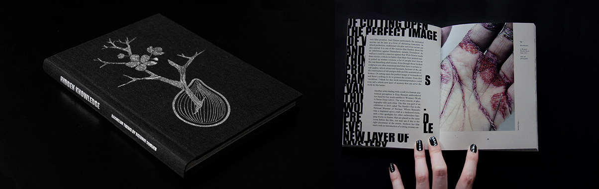 Thesis book design by artist Suzanne Soulier. The content of the thesis is about occult, alienation and ambiguous space in contemporary art.